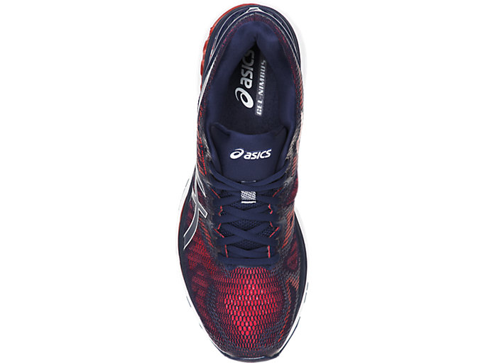 Top view of GEL-NIMBUS 20, INDIGO BLUE/INDIGO BLUE/FIERY RED