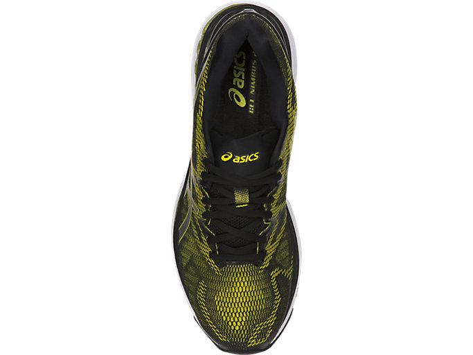 Top view of GEL-NIMBUS 20, SULPHUR SPRING/BLACK/WHITE
