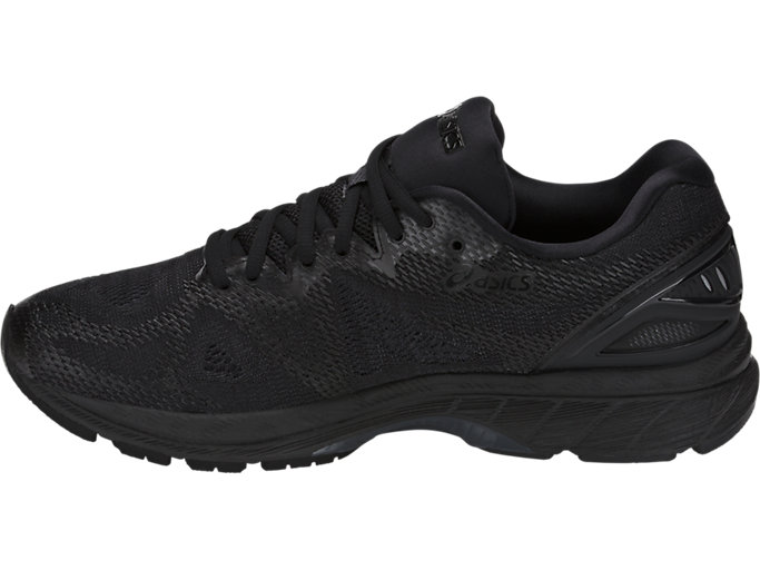 Left side view of GEL-NIMBUS 20, BLACK/BLACK/CARBON