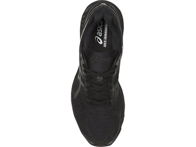 Top view of GEL-NIMBUS 20, BLACK/BLACK/CARBON