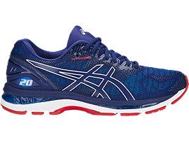 Right side view of GEL-NIMBUS 20, BLUE PRINT/RACE BLUE