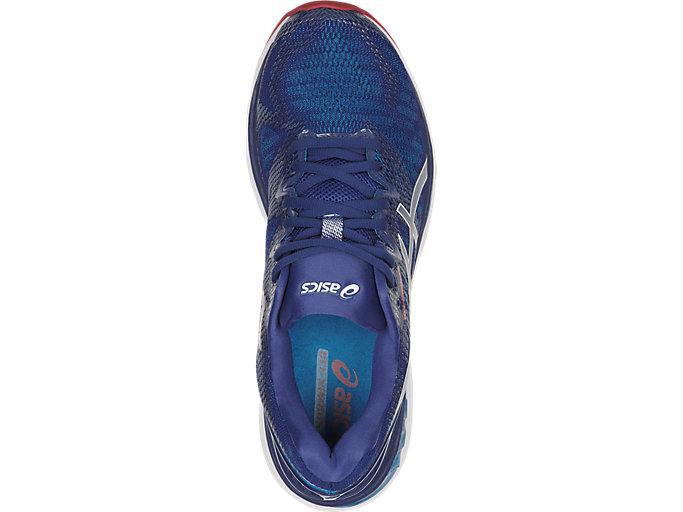 Top view of GEL-NIMBUS 20, BLUE PRINT/RACE BLUE