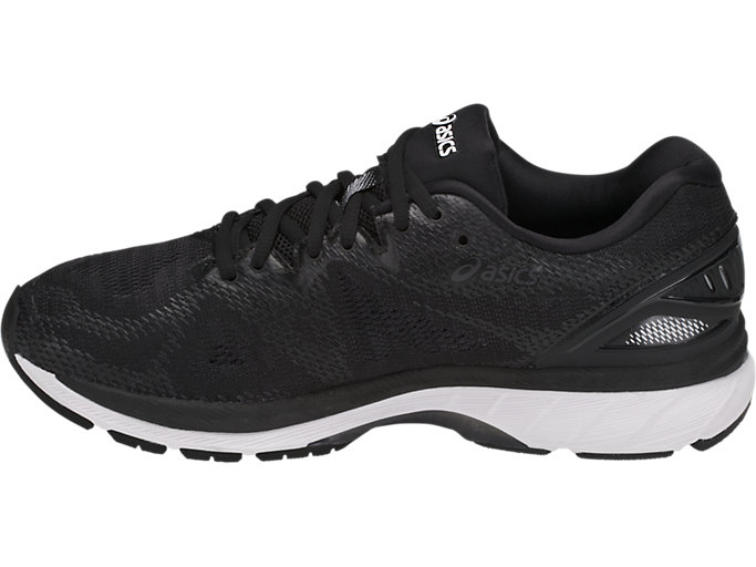 Left side view of GEL-NIMBUS 20, BLACK/WHITE/CARBON