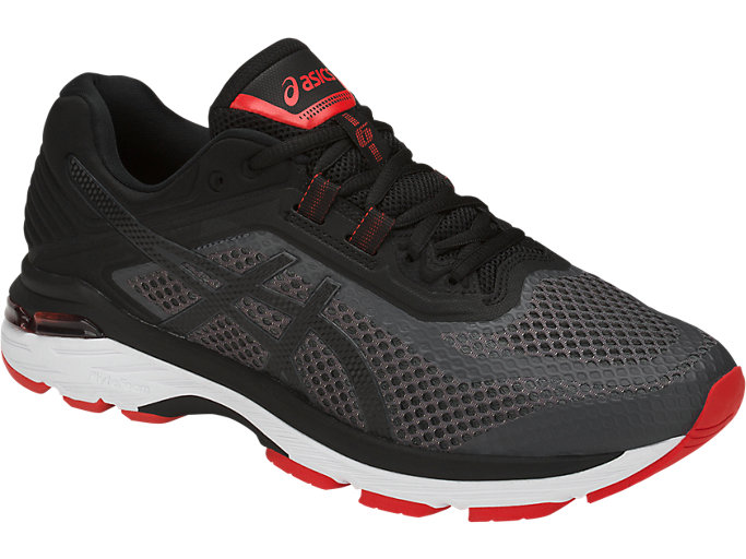 Front Right view of GT-2000 6, DARK GREY/BLACK/FIERY RED