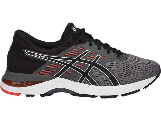 88060166273 GEL-FLUX 5 | Men | CARBON/BLACK/CHERRY TOMATO | Men's Running Shoes ...