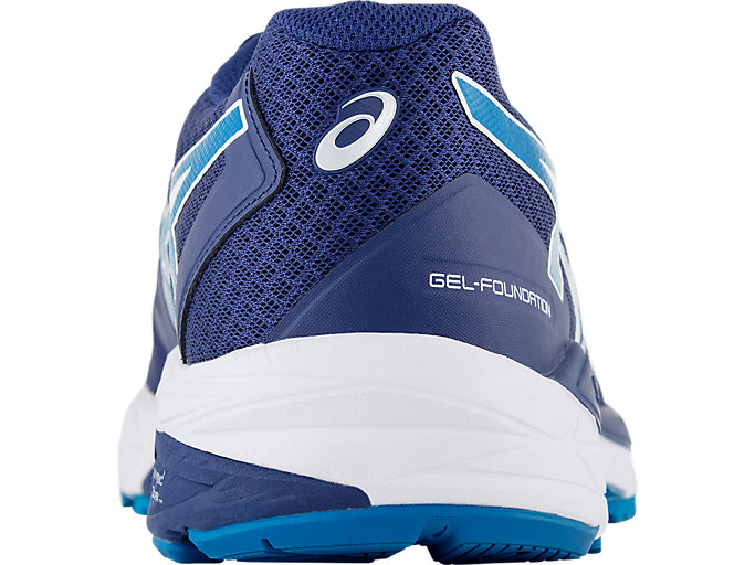 Back view of GEL-FOUNDATION™ 13 (2E), BLUE PRINT/RACE BLUE
