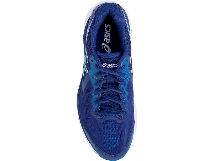 Top view of GEL-FOUNDATION™ 13 (2E), BLUE PRINT/RACE BLUE