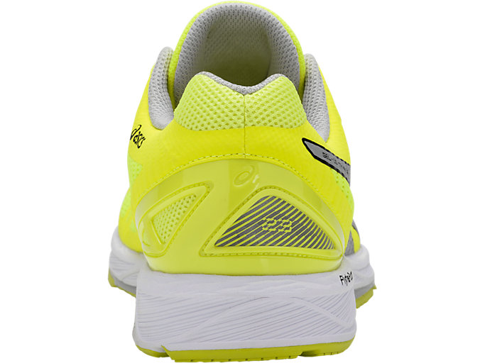 Back view of GEL-DS TRAINER 23, SAFETY YELLOW/MID GREY/WHITE