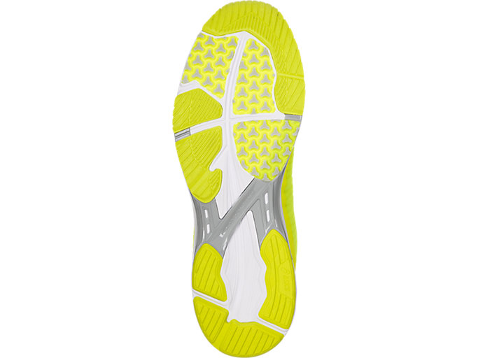 Bottom view of GEL-DS TRAINER 23, SAFETY YELLOW/MID GREY/WHITE