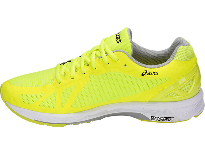 Left side view of GEL-DS TRAINER 23, SAFETY YELLOW/MID GREY/WHITE