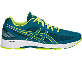ASICS GEL-DS TRAINER 23 - Neutral running shoes - deep aqua/neon lime QLqVKZzC