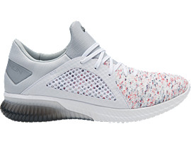 Right side view of GEL-KENUN KNIT, WHITE/WHITE/MID GREY