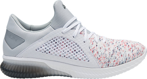 GEL-KENUN KNIT - Neutral running shoes - white/mid grey Online Store Outlet Official Site Cheap Price Top Quality 8aC0bZ