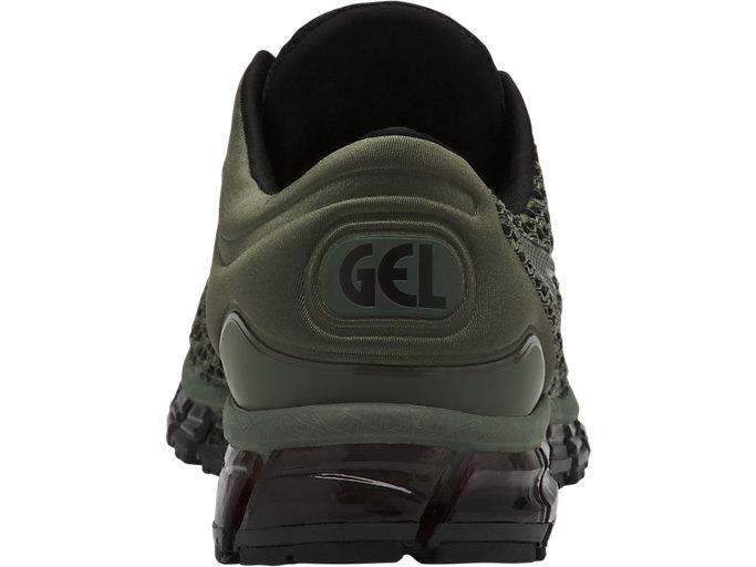 Back view of GEL-QUANTUM 360 SHIFT MX, FOUR LEAF CLOVER/BLACK/BLACK