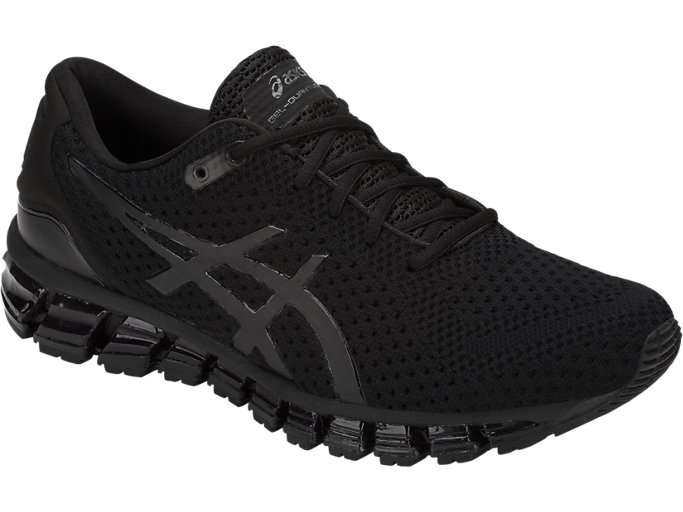 Front Right view of GEL-QUANTUM 360 KNIT 2, BLACK/BLACK