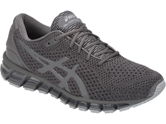 Front Right view of GEL-QUANTUM 360 KNIT 2, CARBON/DARK GREY