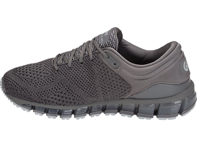 Left side view of GEL-QUANTUM 360 KNIT 2, CARBON/DARK GREY