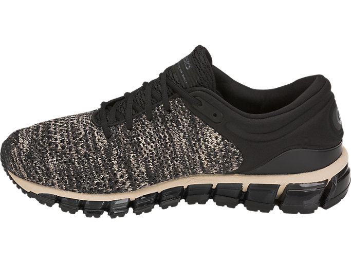 Left side view of GEL-QUANTUM 360 KNIT 2, FEATHER GREY/BLACK