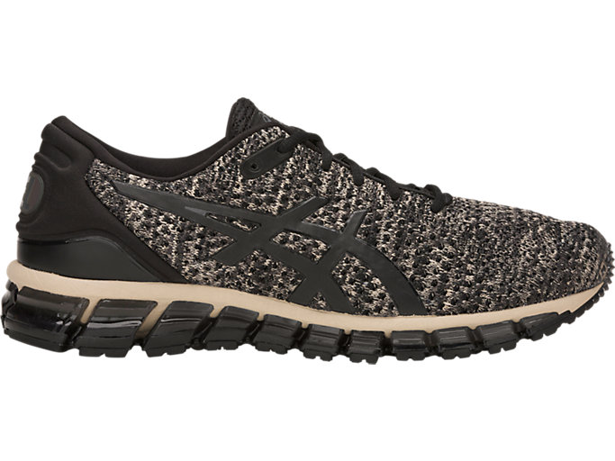 Right side view of GEL-QUANTUM 360 KNIT 2, FEATHER GREY/BLACK
