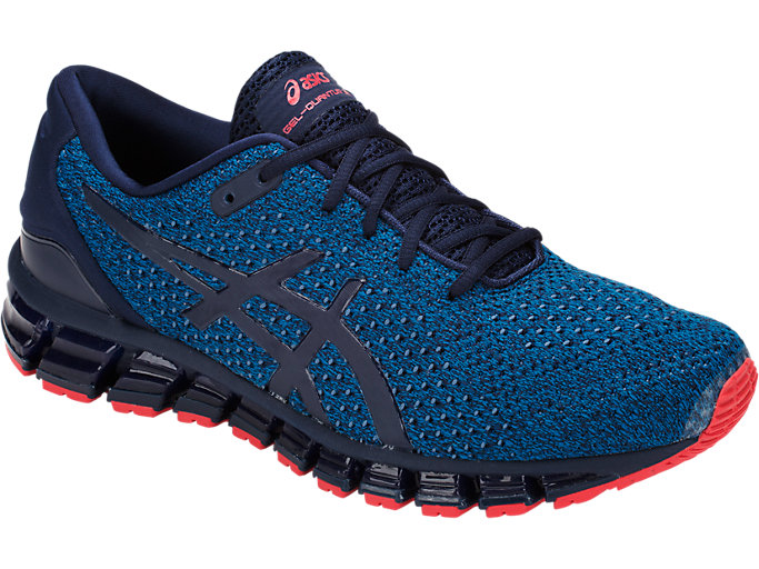 Front Right view of GEL-QUANTUM 360 KNIT 2, RACE BLUE/PEACOAT