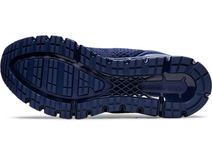 Bottom view of GEL-QUANTUM 360 KNIT 2, INDIGO BLUE/INDIGO BLUE