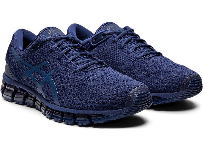 Front Right view of GEL-QUANTUM 360 KNIT 2, INDIGO BLUE/INDIGO BLUE