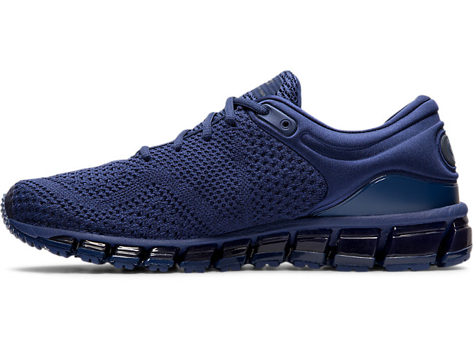 Left side view of GEL-QUANTUM 360 KNIT 2, INDIGO BLUE/INDIGO BLUE