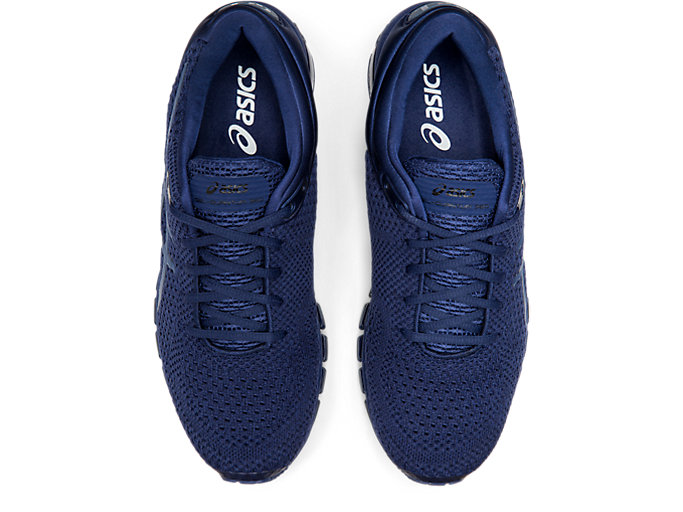 Top view of GEL-QUANTUM 360 KNIT 2, INDIGO BLUE/INDIGO BLUE