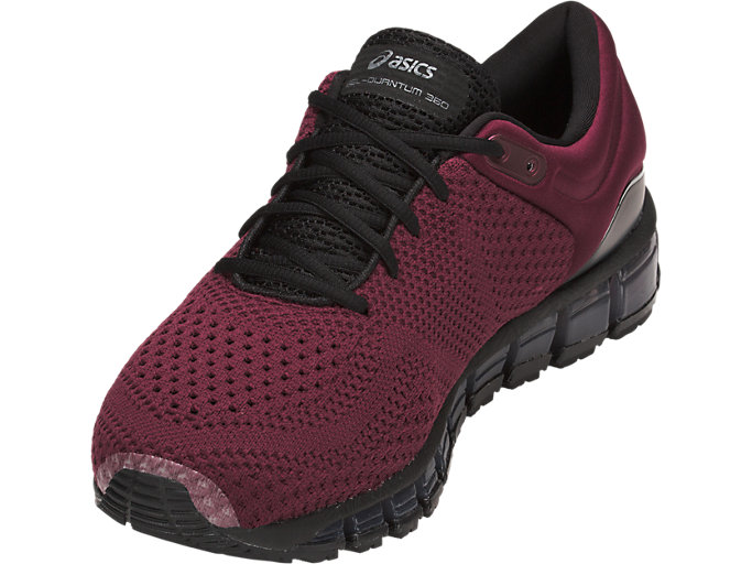 Front Left view of GEL-QUANTUM 360 KNIT 2, PORT ROYAL/BLACK