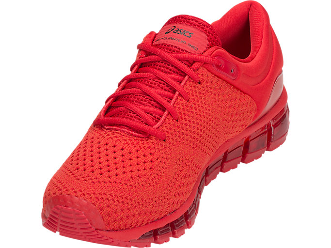 Front Left view of GEL-QUANTUM 360 KNIT 2, CLASSIC RED/CLASSIC RED