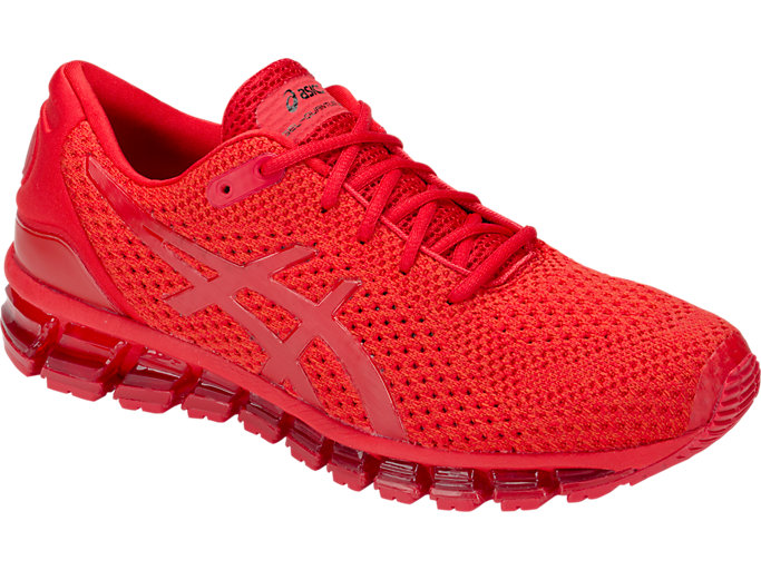 Front Right view of GEL-QUANTUM 360 KNIT 2, CLASSIC RED/CLASSIC RED