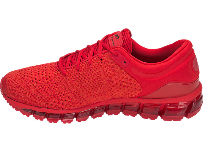 Left side view of GEL-QUANTUM 360 KNIT 2, CLASSIC RED/CLASSIC RED