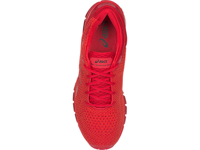 Top view of GEL-QUANTUM 360 KNIT 2, CLASSIC RED/CLASSIC RED