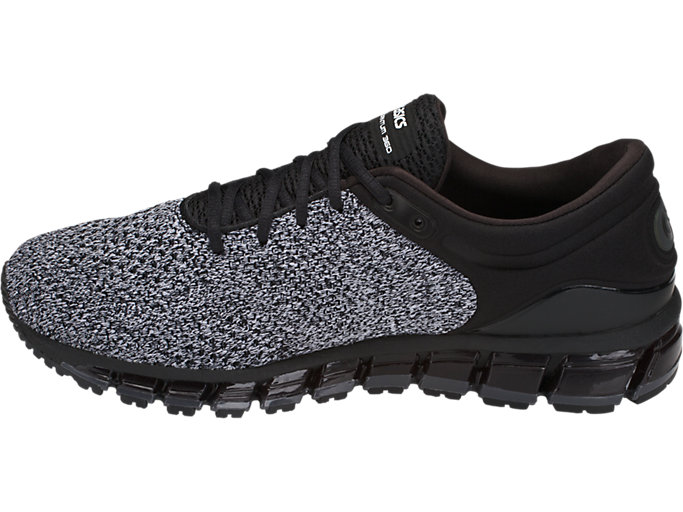 Left side view of GEL-QUANTUM 360 KNIT 2, BLACK/WHITE/BLACK