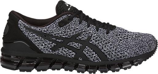 ASICS GEL-QUANTUM 360 KNIT 2 - Neutral running shoes - black/white 8HO5b