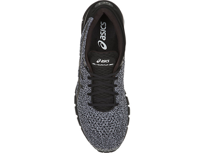 Top view of GEL-QUANTUM 360 KNIT 2, BLACK/WHITE/BLACK