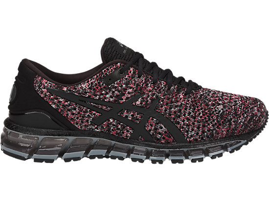 GEL-QUANTUM 360 KNIT 2, BLACK/CLASSIC RED/STONE GREY