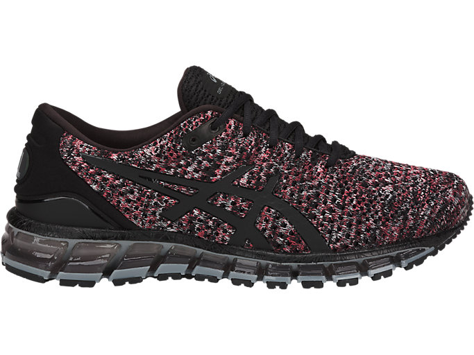 Right side view of GEL-QUANTUM 360 KNIT 2, BLACK/CLASSIC RED/STONE GREY