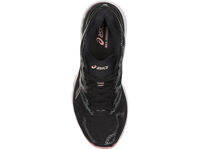 Top view of GEL-NIMBUS 20, BLACK/FROSTED ROSE