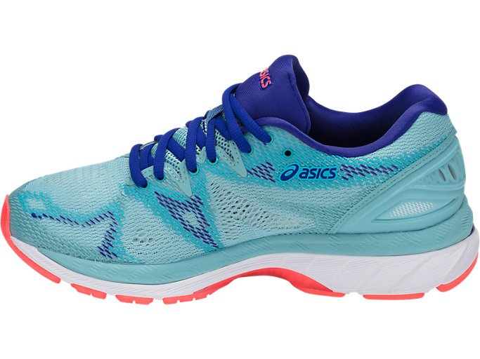 Left side view of GEL-NIMBUS 20, PORCELAIN BLUE/WHITE/ASICS BLUE