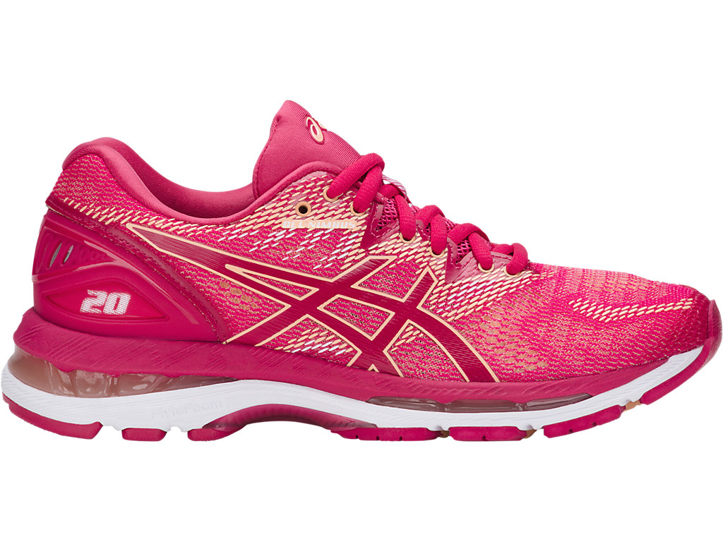 GEL-NIMBUS 20 - Neutral running shoes - bright rose/bright rose/aprico