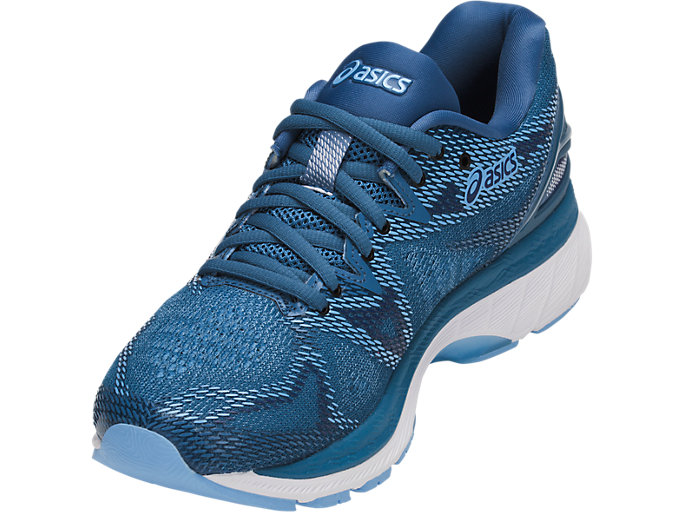 Front Left view of GEL-NIMBUS 20, AZURE/WHITE