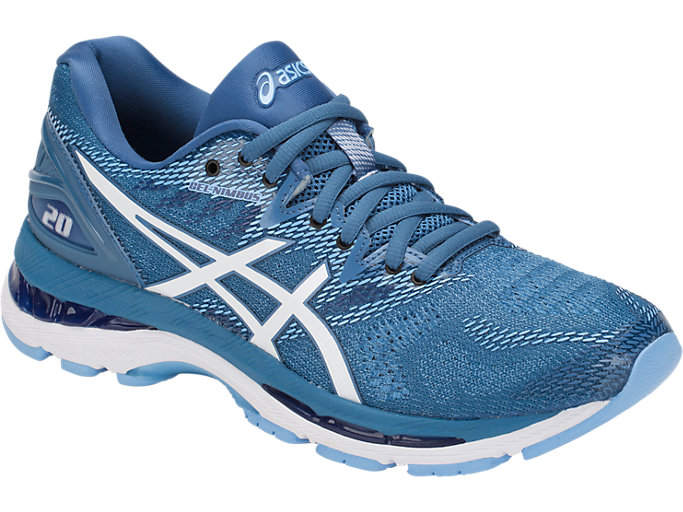 Front Right view of GEL-NIMBUS 20, AZURE/WHITE