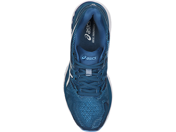 Top view of GEL-NIMBUS 20, AZURE/WHITE