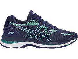 Right side view of GEL-NIMBUS 20, INDIGO BLUE/INDIGO BLUE/OPAL GREEN