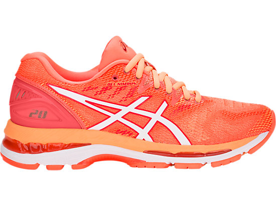 GEL-NIMBUS 20, FLASH CORAL/WHITE