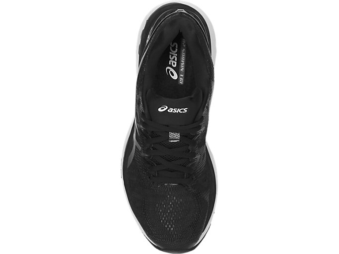 Top view of GEL-NIMBUS 20, BLACK/WHITE/CARBON
