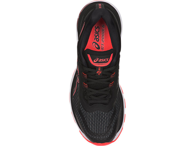 Top view of GT-2000 6, BLACK/FLASH CORAL