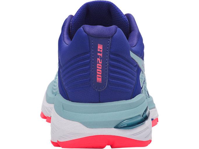 Back view of GT-2000 6, PORCELAIN BLUE/PORCELAIN BLUE/ASICS BLUE