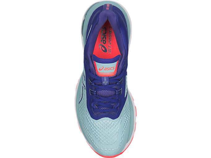 Top view of GT-2000 6, PORCELAIN BLUE/PORCELAIN BLUE/ASICS BLUE